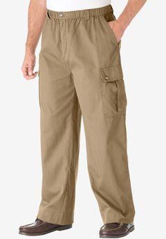 Knockarounds® Cargo Pants with Full Elastic Waist, KHAKI
