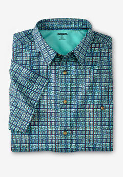 Short Sleeve Printed Sport Shirt,