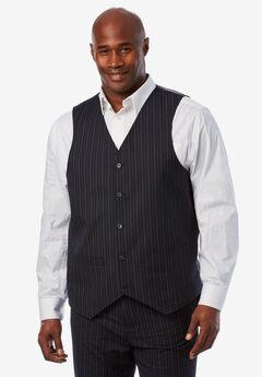 KS Signature Easy Movement® 5-Button Suit Vest, NAVY PINSTRIPE