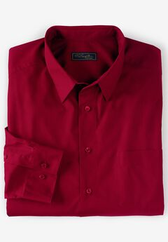 No Hassle® Long-Sleeve Dress Shirt by KS Signature®, RICH BURGUNDY