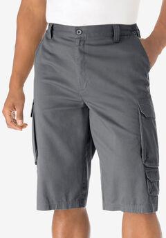 "14"" Cargo Shorts, STEEL"