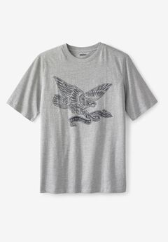 Liberty Blues® Americana Graphic Tee, HEATHER GREY EAGLE