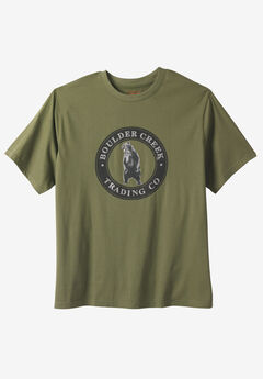Nature Graphic Tee by Boulder Creek®, GRIZZLY