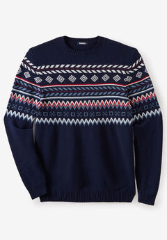 Holiday Crewneck Sweater, FAIR ISLE