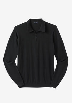Polo Sweater, BLACK