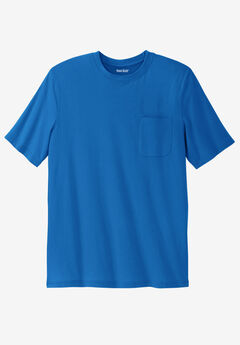 Shrink-Less™ Lightweight Pocket Crewneck T-Shirt, ROYAL BLUE