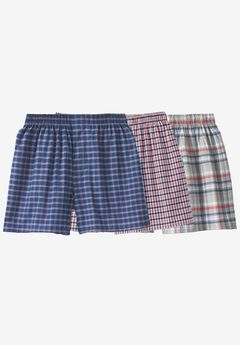 Woven Boxers 3-Pack, MIXED PRINT NAVY ORANGE