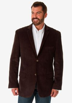 Corduroy Blazer by KS Signature, BROWN