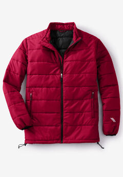 KS Sport™ Lightweight Packable Puffer Jacket, RICH BURGUNDY