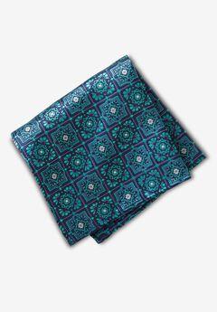 KS Signature Pocket Square, TIDAL GREEN MEDALLION