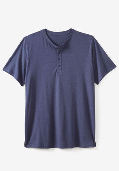Lightweight Henley Longer Length T-Shirt,