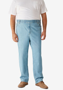 Loose Fit Comfort Waist Jeans,