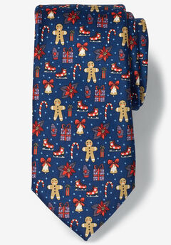 Novelty Holiday Tie, HOLIDAY GINGERBREAD