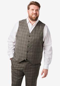 Easy Movement 5 Button Suit Vest by KS Signature,
