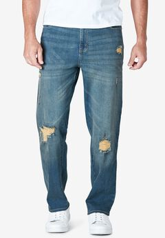 Liberty Blues™ Straight-Fit Stretch 5-Pocket Jeans,