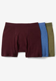 Cotton Mid-Length Briefs 3-Pack, ASSORTED COLORS