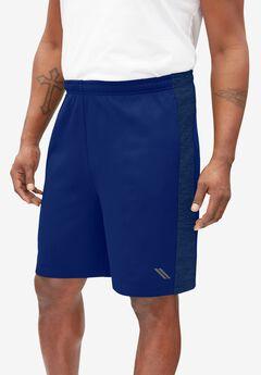 KS Sport™ Poly-Tech Fleece Shorts, MIDNIGHT NAVY MARL