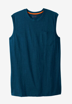 Boulder Creek® Heavyweight Pocket Muscle Tee, HEATHER NAVY