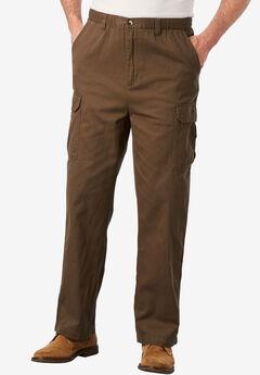 Full-Elastic Waist Cargo Pants,