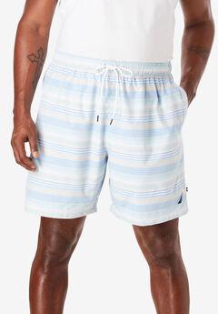 Quick Dry Striped Swim Trunk by Nautica®, BLUE