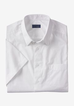 No Hassle® Short-Sleeve Dress Shirt by KS Signature®, WHITE
