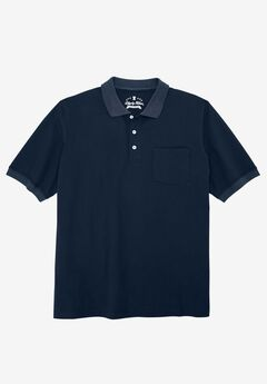 Liberty Blues® Pocket Piqué Polo Shirt, NAVY