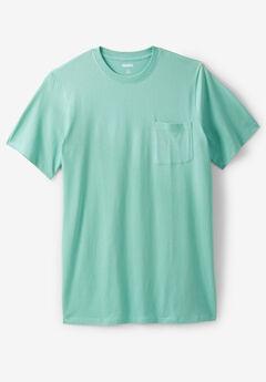 508fe5678e Lightweight Longer-Length Crewneck Pocket T-Shirt