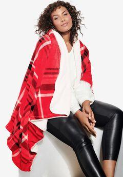 Plaid Sherpa Blanket,
