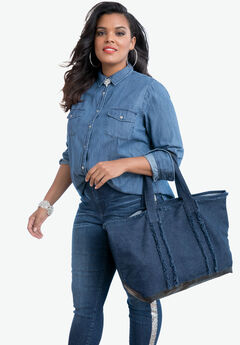 Two-Piece Denim Tote Set,