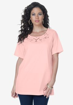 Plus Size Tunic w Cute Plus Size Top w Versatile Neck Opening Sizes Available from L to 8XL Off Shoulder Neckline Various Color Choices