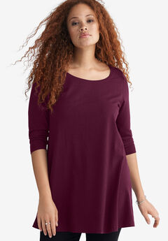 3/4 Sleeve Knit Tunic by ellos®,