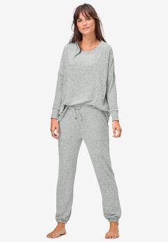 Marled Knit Jogger Pants by ellos®,