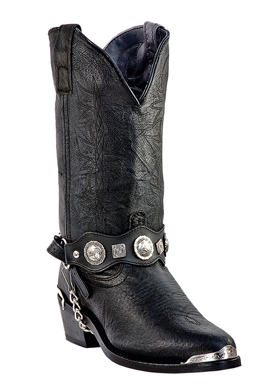 "Dingo 12"" Concho Western Boots,"