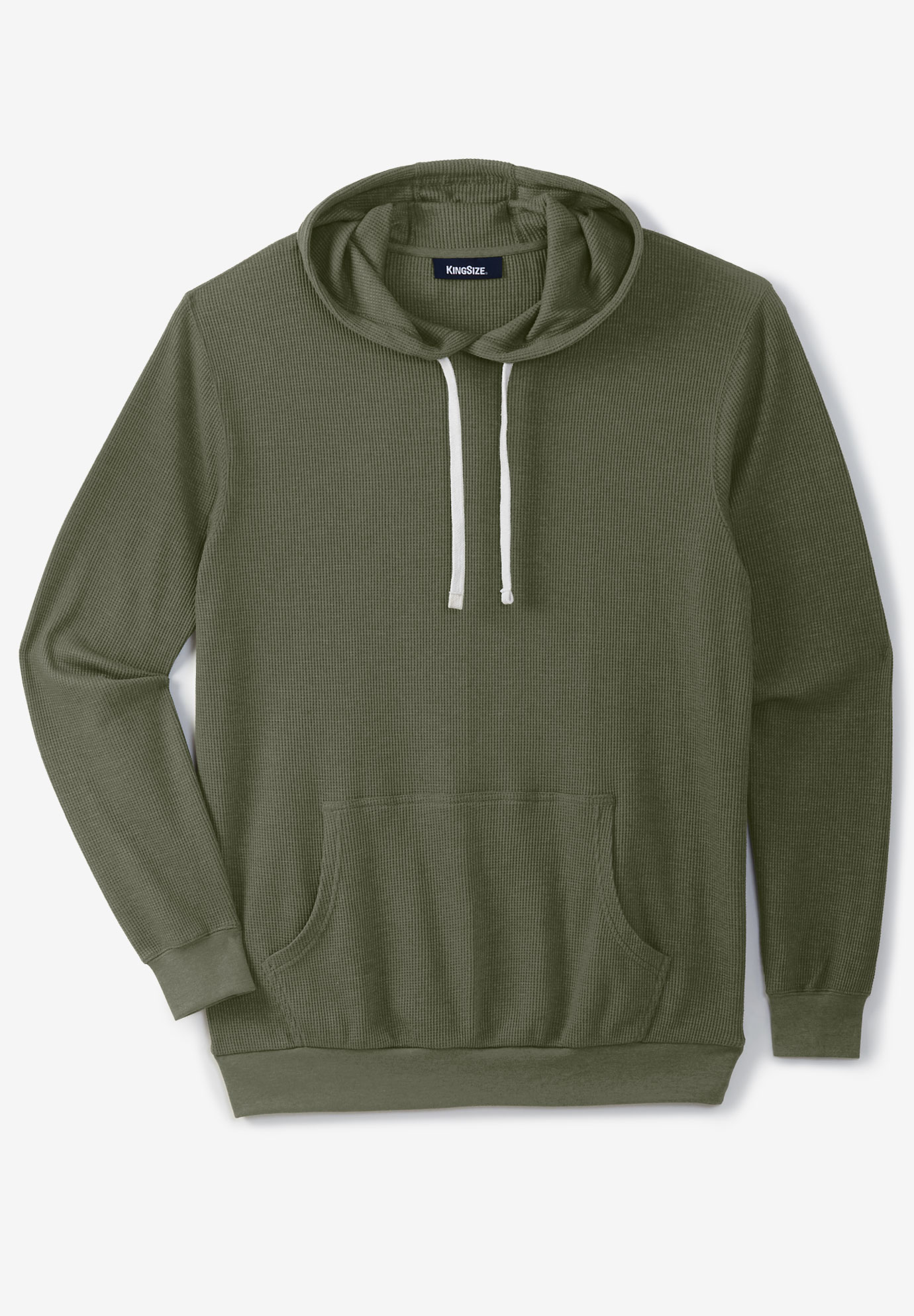 Waffle Knit Thermal Hoodie Big And Tall Hoodies