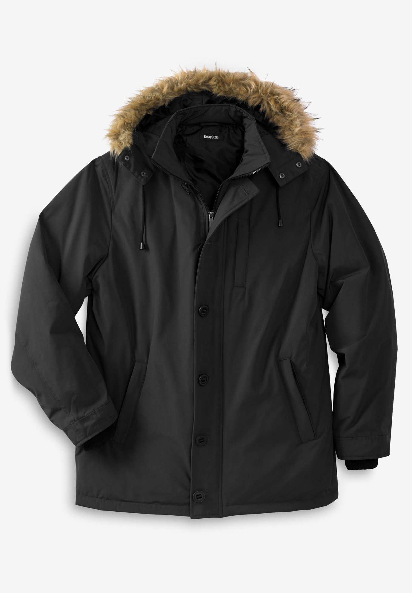 Down Parka with Removable Hood,