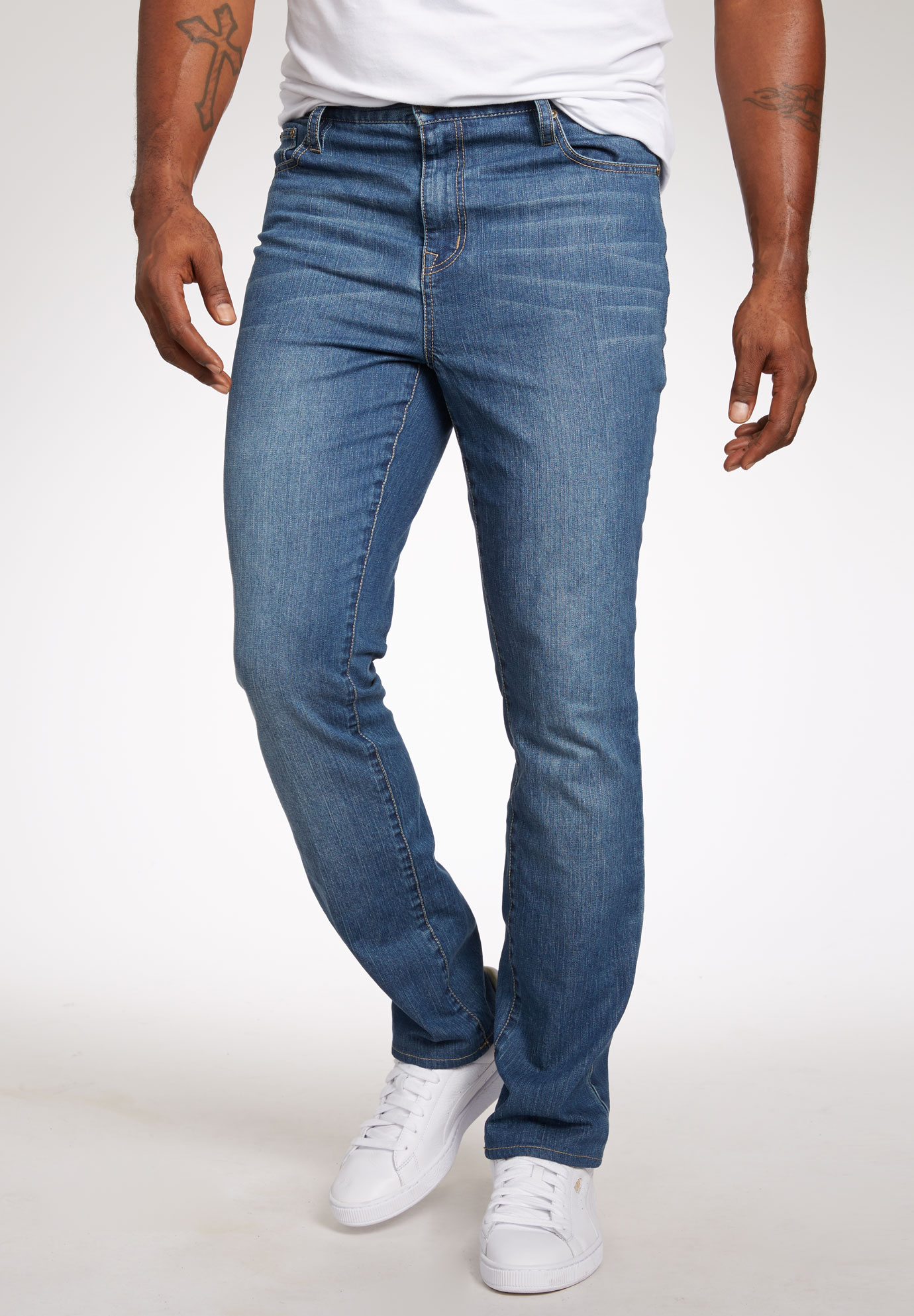 Liberty Blues® Straight-Fit Stretch 5-Pocket Jeans,