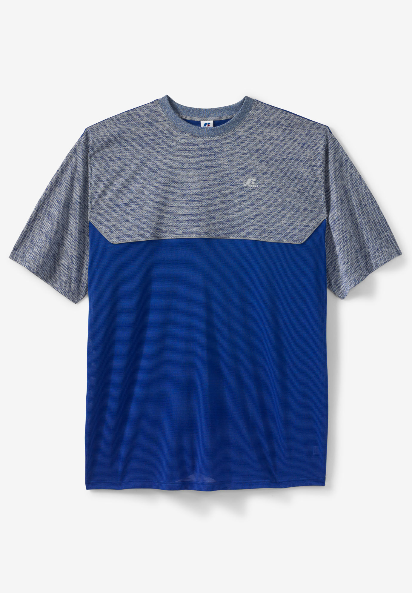 Paneled Short-Sleeve Performance Tee by Russell Athletic®,