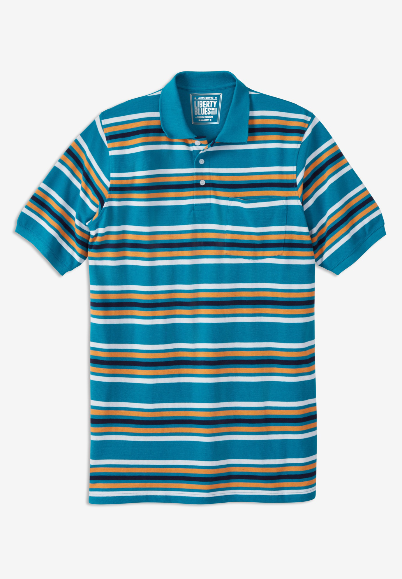 Liberty Blues™ Longer-Length Piqué Polo,