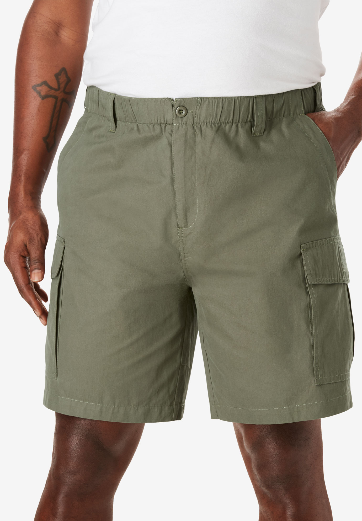 4409c9a2e1 Moisture Wicking Cargo Shorts| Big and Tall All Shorts | King Size