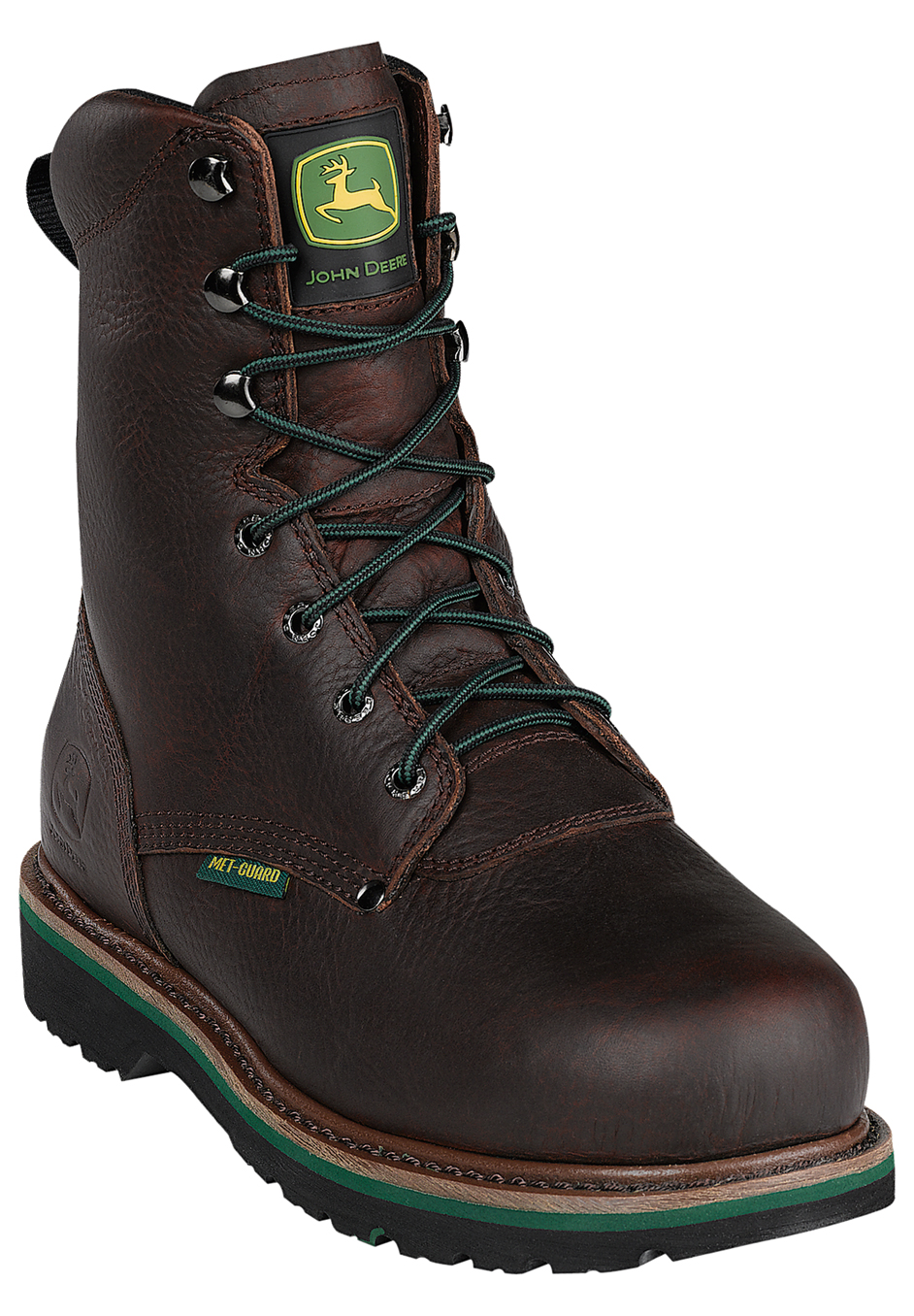 John Deere 8' Steel Toe Lace Boot,