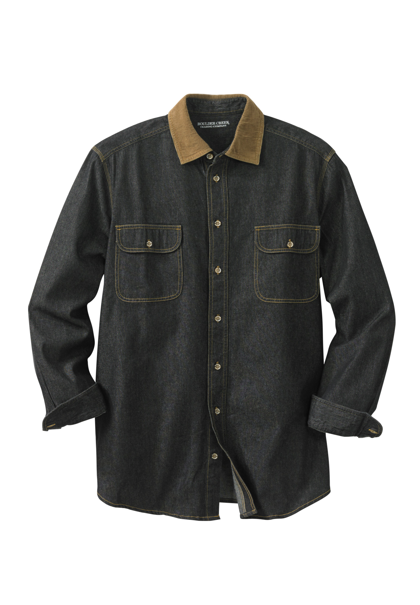 Long Sleeve Corduroy Collar Renegade Shirt by Boulder Creek®,