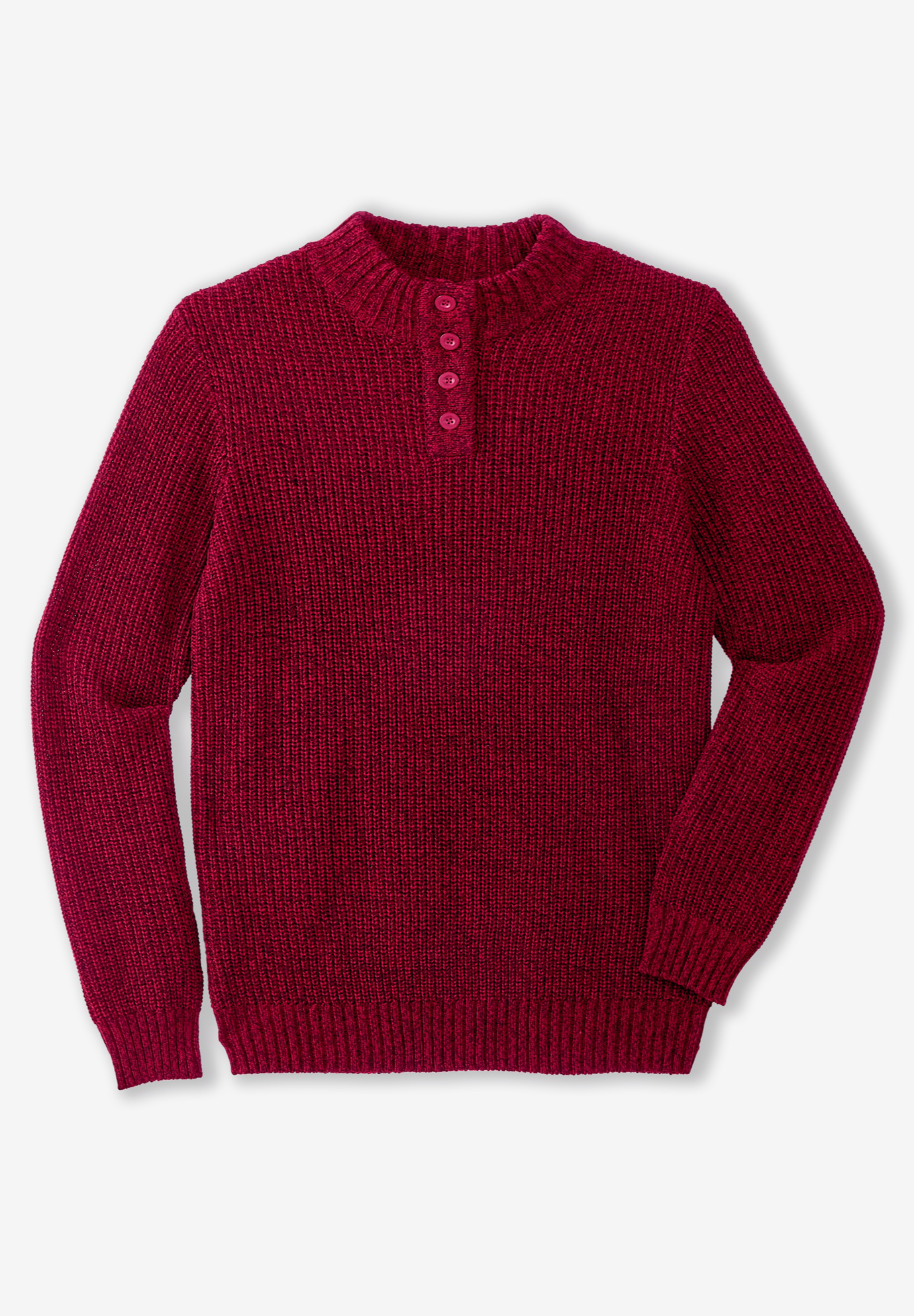 Henley Shaker Sweater,