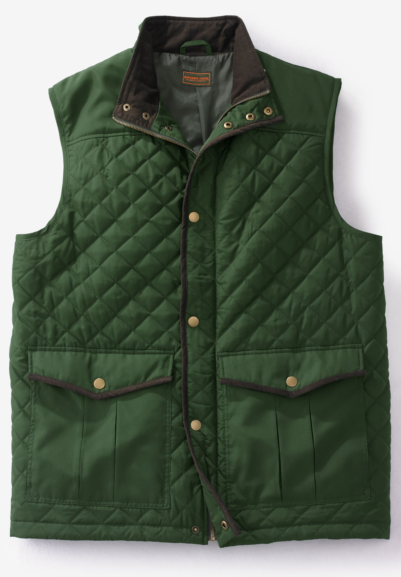 Quilted Vest By Boulder Creek 174 Big And Tall Vests King Size