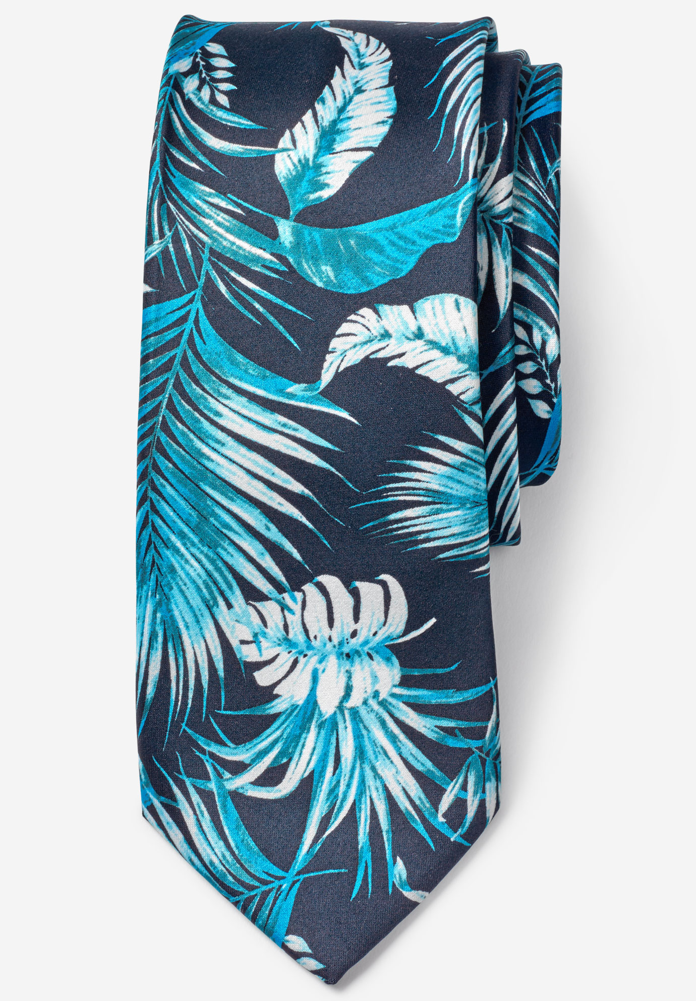 Palm Tree Tie by KS Island™, NAVY PALM
