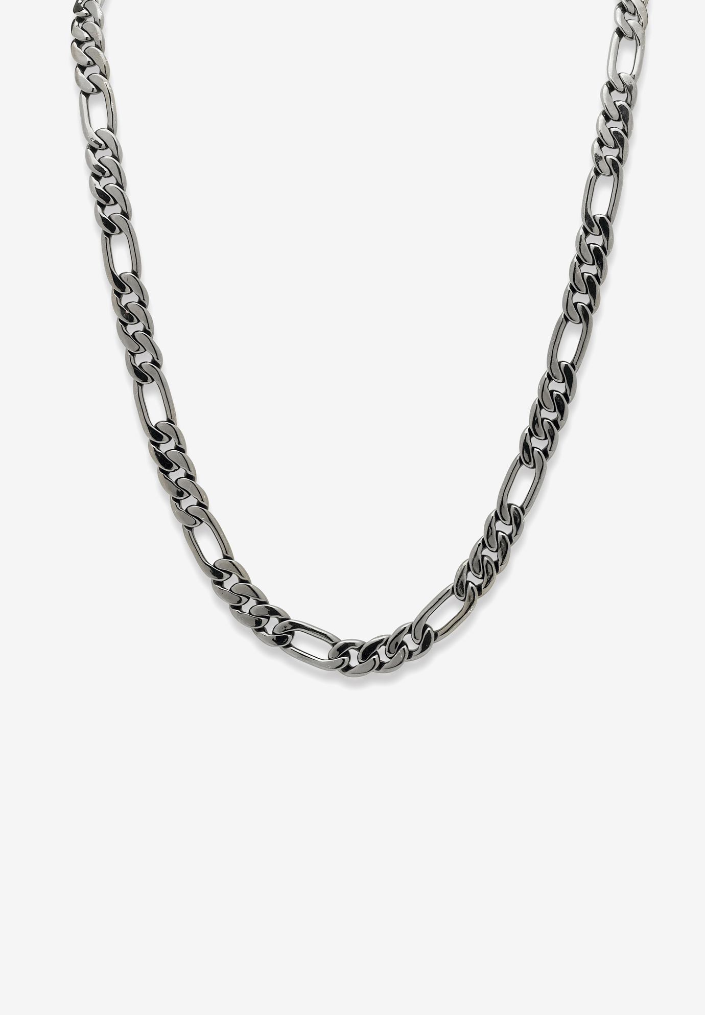 Black Figaro-Link Necklace , BLACK