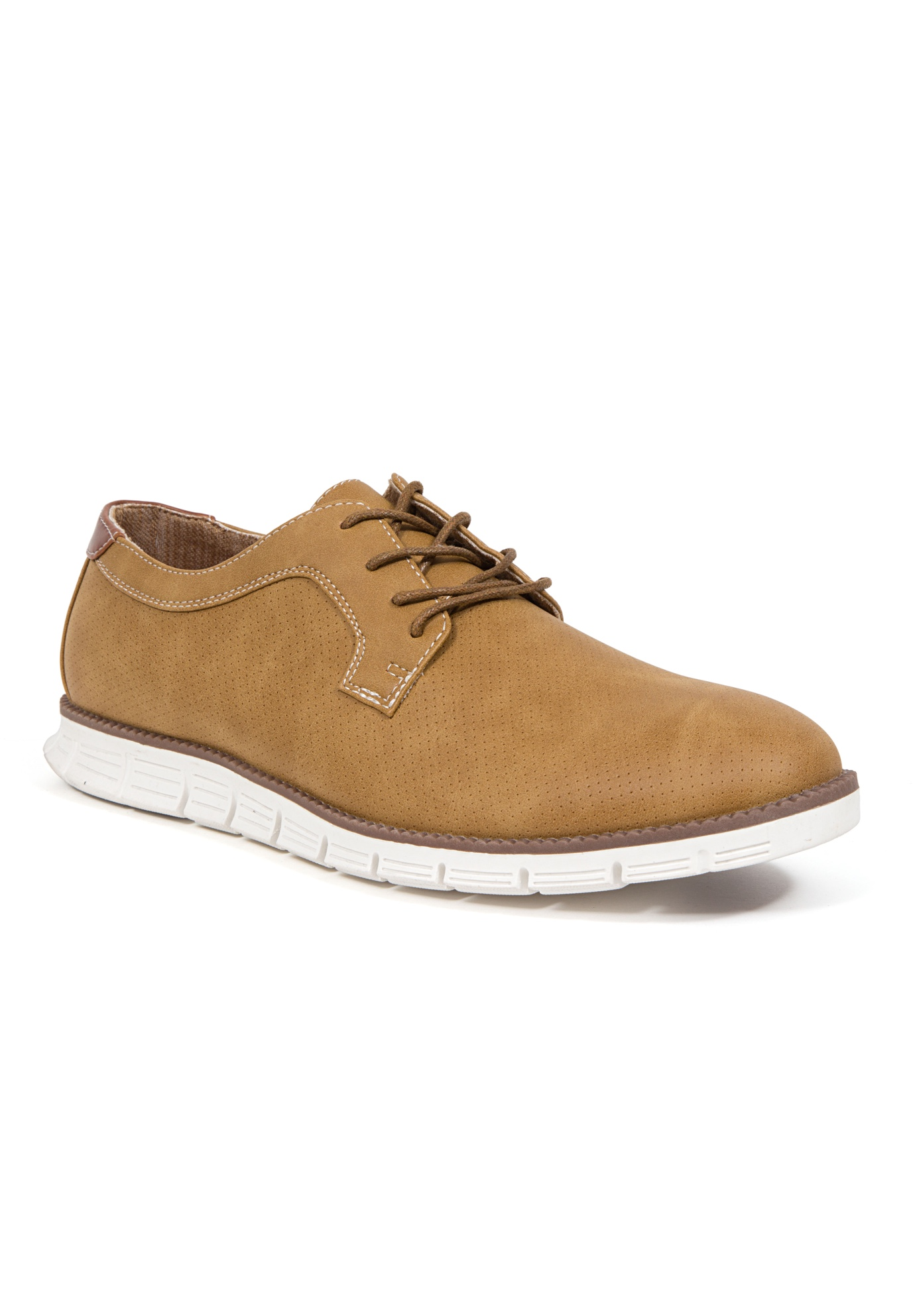Deer Stags® Axel Memory Foam Classic Lace-up Wingtip Lightweight Oxford Sneaker Hybrid,