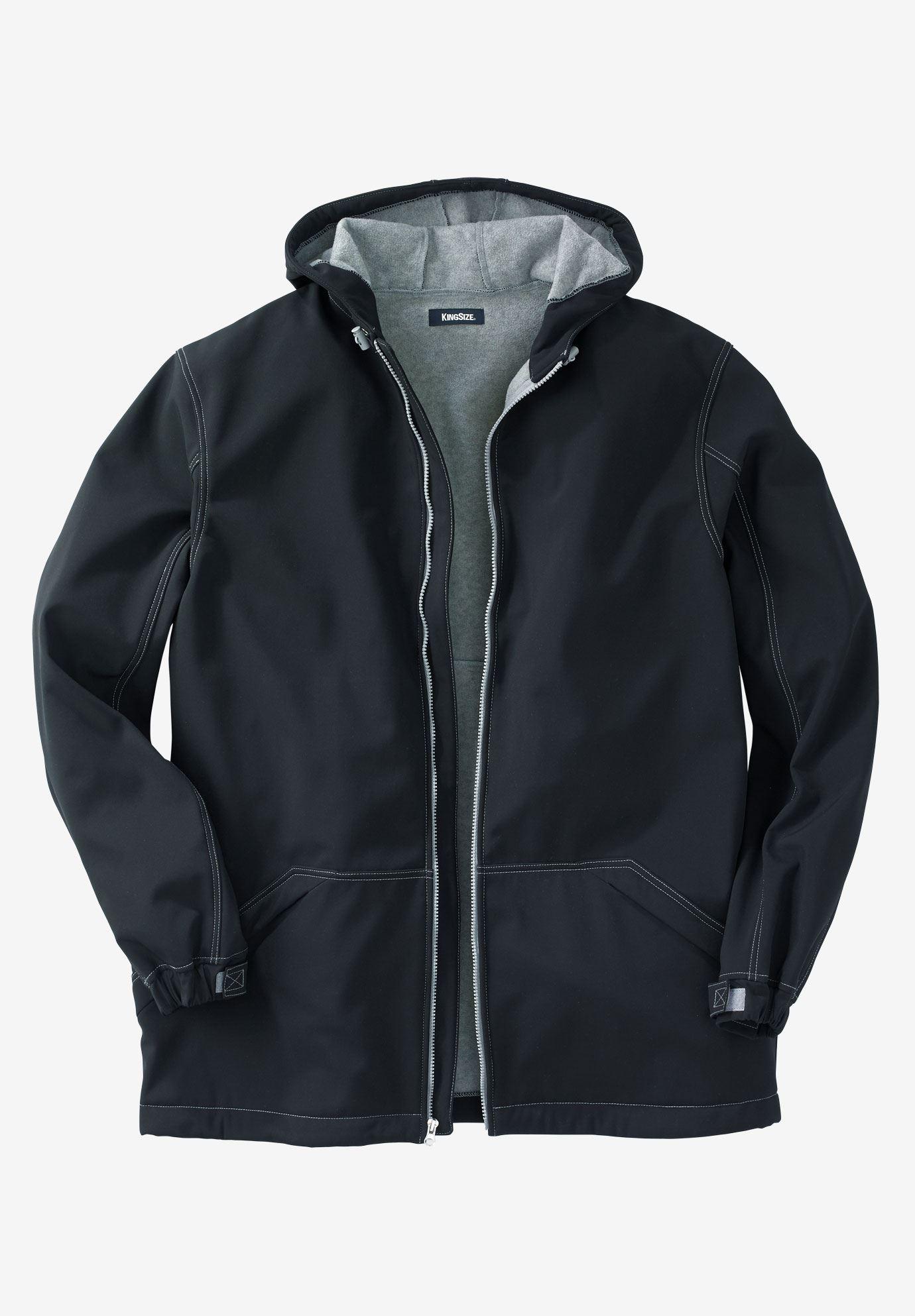 Fleece Lined Rain Coat Big And Tall Coats Amp Parkas King