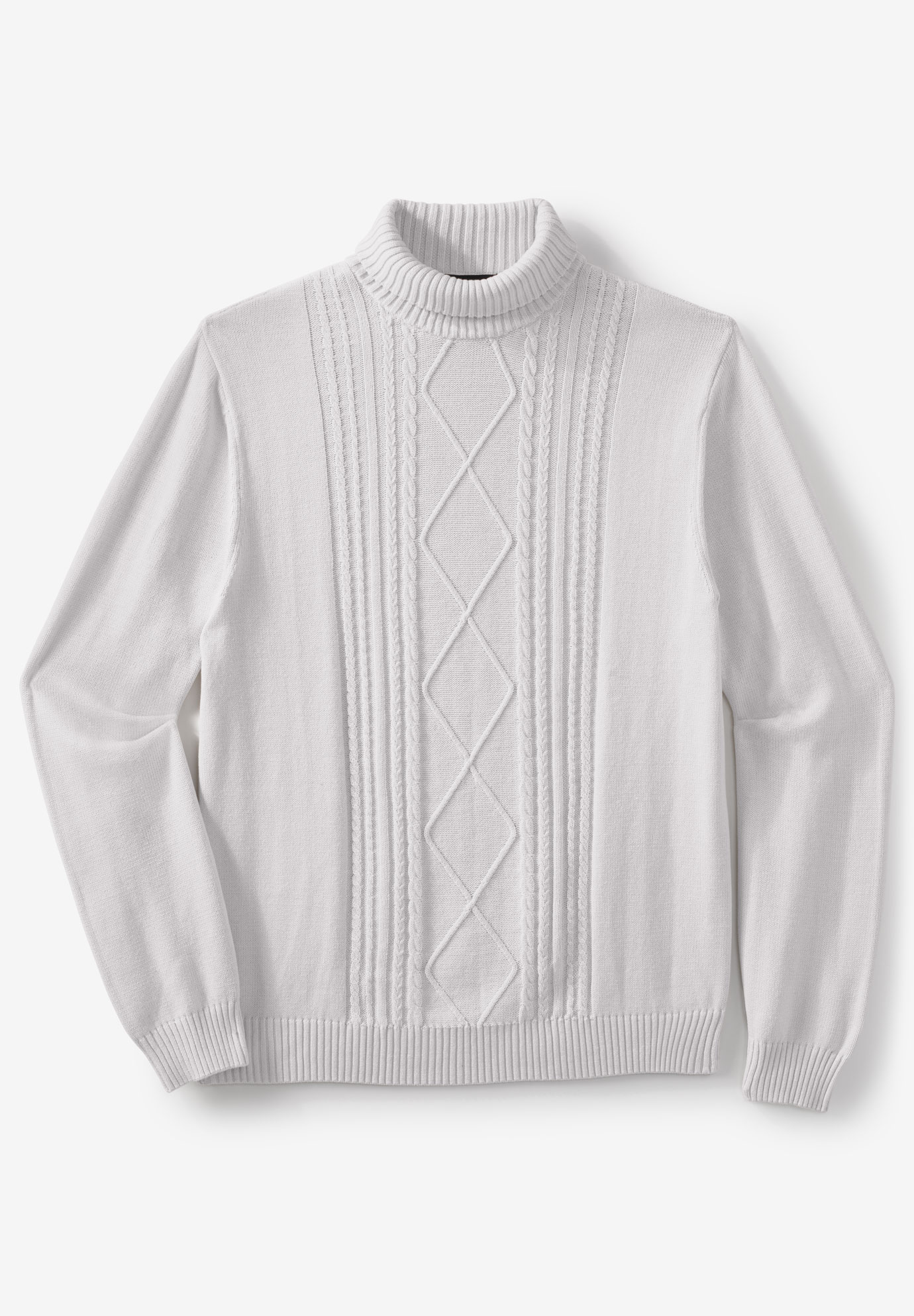 Liberty Blues™ Shoreman's Cable Knit Turtleneck Sweater,