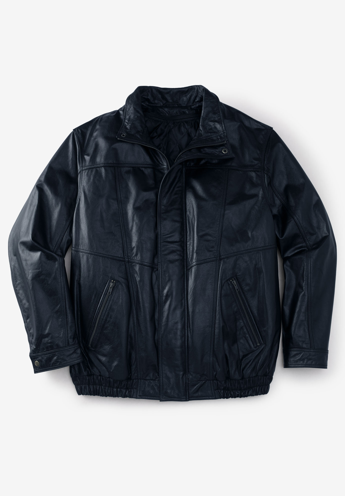 Leather Bomber Jacket Big And Tall Casual Jackets King Size