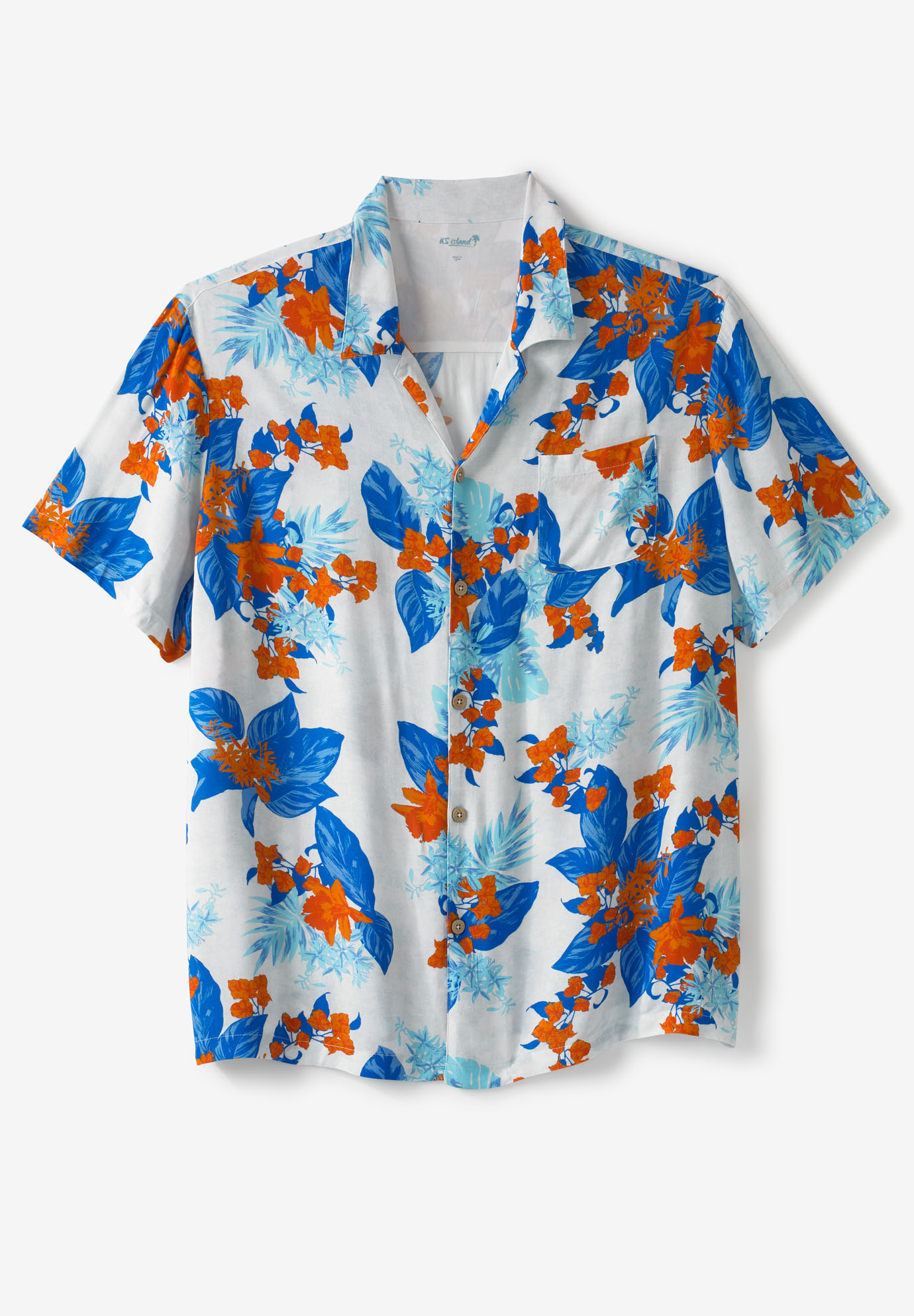 KS Island™ Tropical Caribbean Print Shirt,